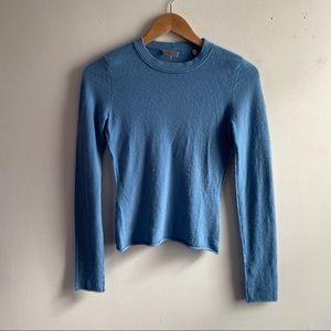 Vince blue cashmere crewneck pullover sweater